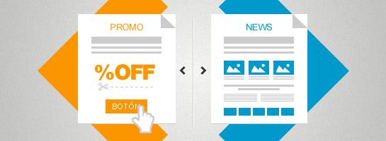Campañas promocionales vs newsletters