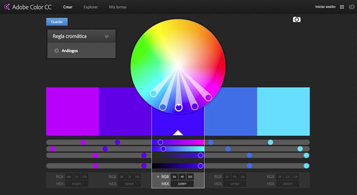 paleta cromática colores Sitio