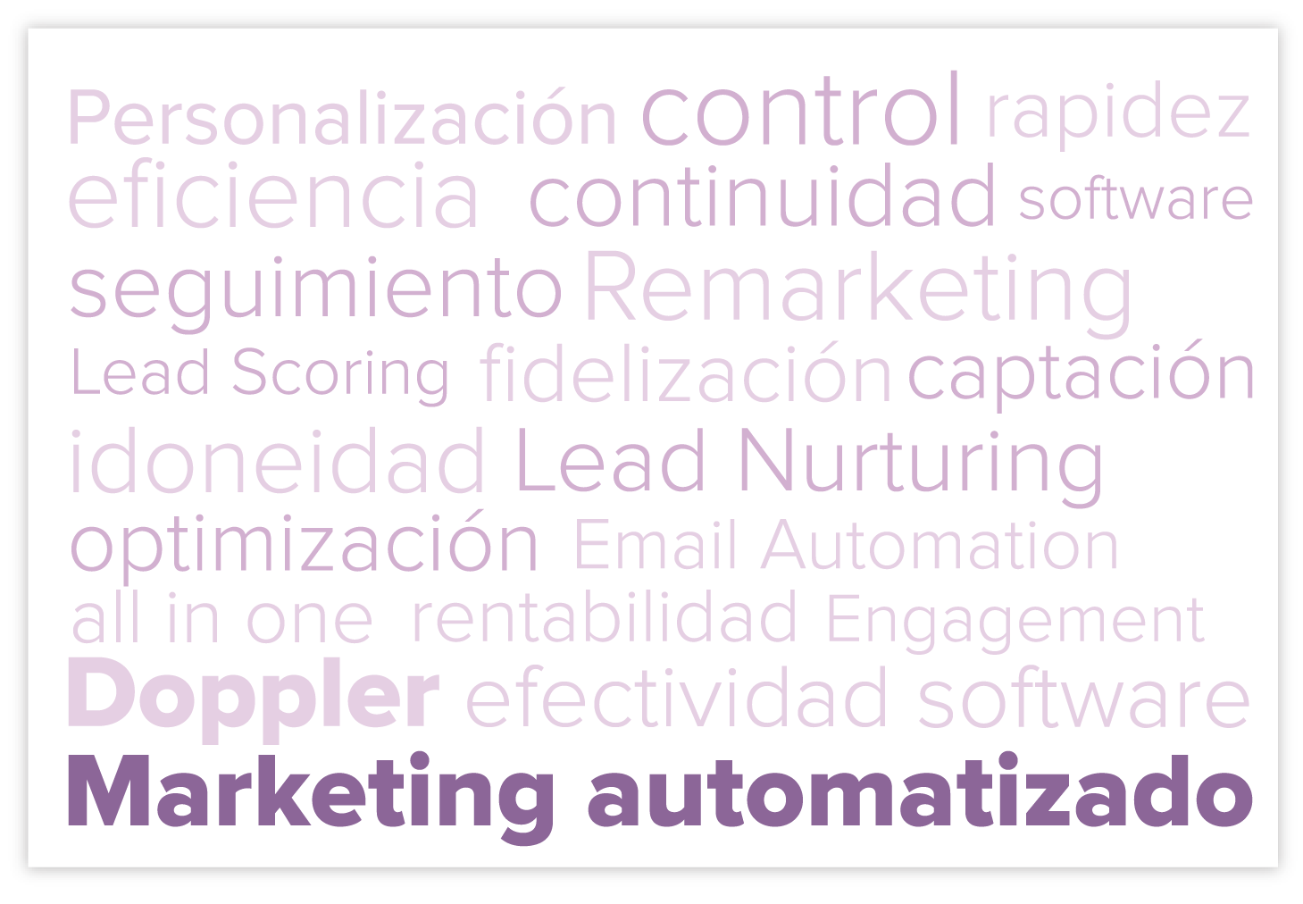 marketing automatizado nube de tags