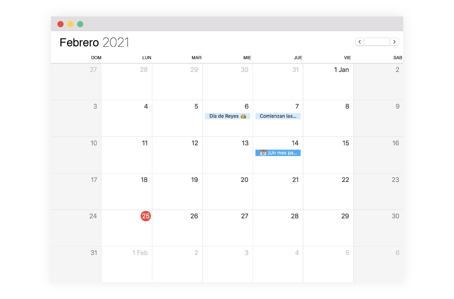 calendario de marketing sincronizado