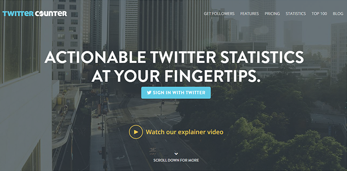 Herramientas para Twitter: TwitterCounter