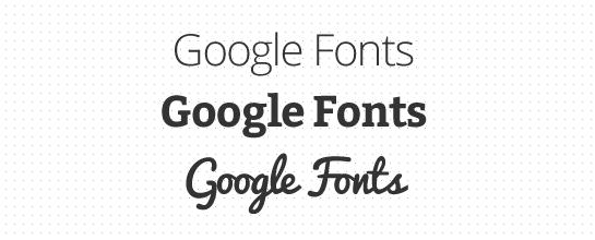 Google Fonts en Lander