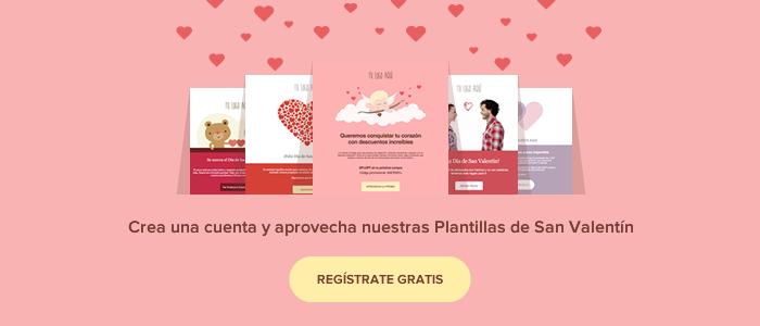 Plantillas de Email para San Valentín