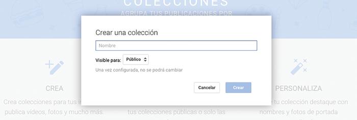 Crear Colección