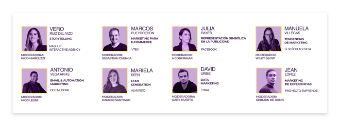 Los 8 speakers confirmados para el evento online