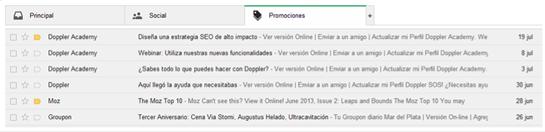 Nueva bandeja de gmail