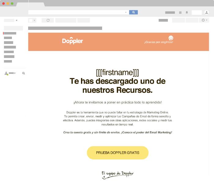 Ejemplo de Email Transaccional de Doppler