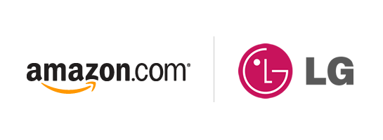 Logo de amazon y LG