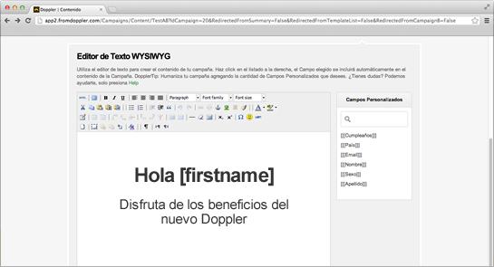Editor WYSIWYG